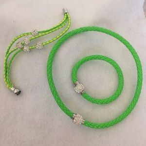 3pc Lime Green Necklace Set